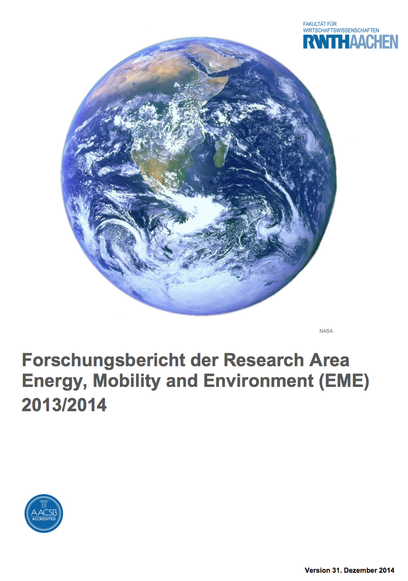 EME Research Report 2013/2014